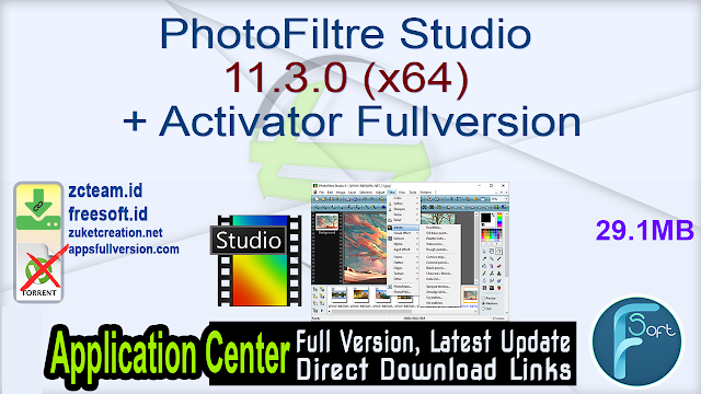 PhotoFiltre Studio 11.3.0 (x64) + Activator Fullversion