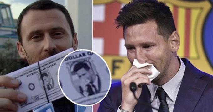 Marseille fans burn fake Qatari dollars with Messi's face ahead of PSG clash