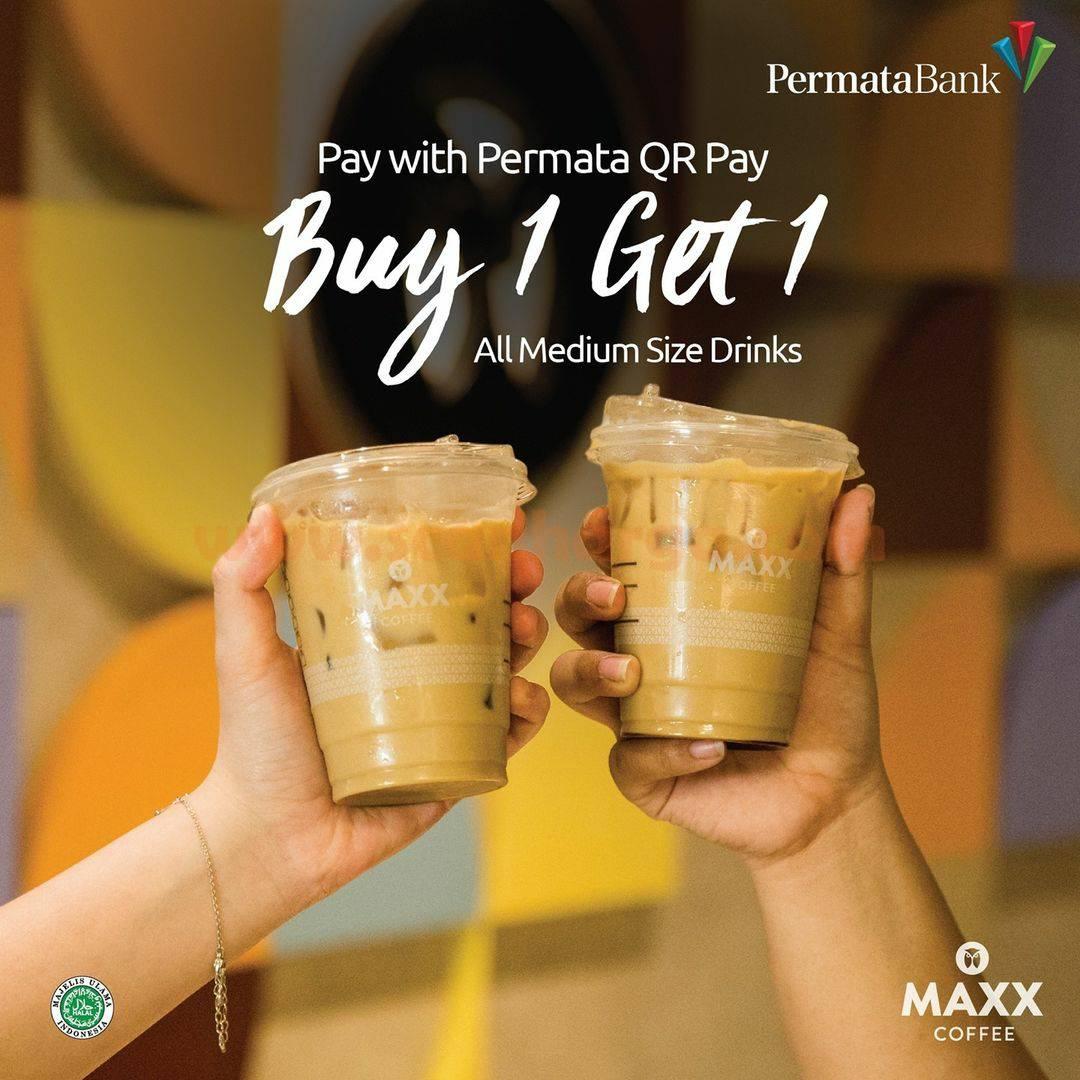 Promo Maxx Coffee Beli 1 Gratis 1 dengan Permata Bank QR Pay