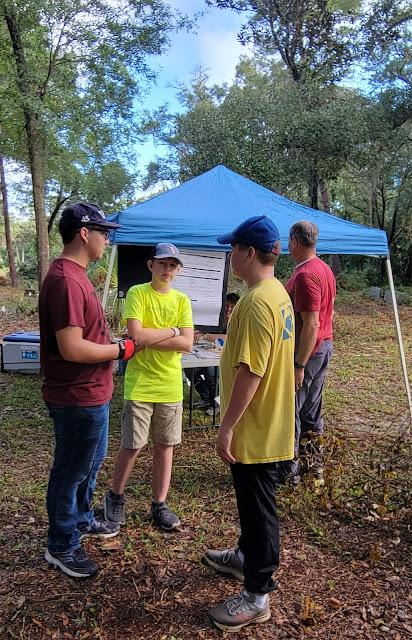 Blake Hicks Blaine Vorwaller and Blane Larkin mapping the Pinehurst cemetery in St. Augustine