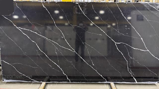 Calacatta Black Quartz Stone Slabs NYC