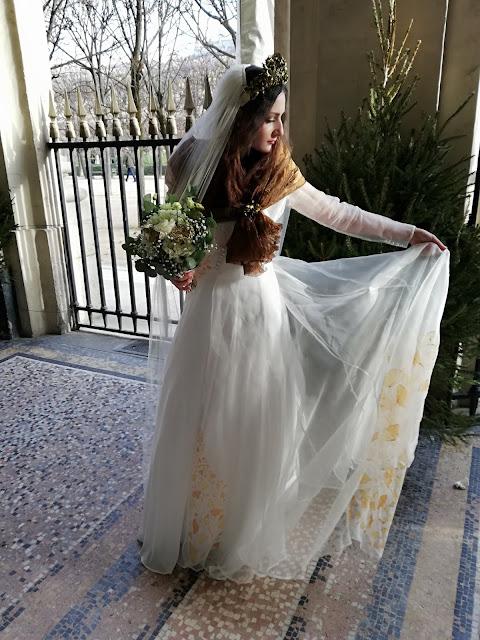 Robe de mariée en organza , D'Ors et de Soie