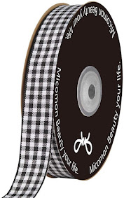 Cheap Black Plaid Gingham Ribbons For All Crafting Projects