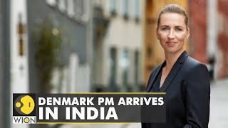 Denmark PM Prime Minister Mette Frederiksen arrives in Delhi