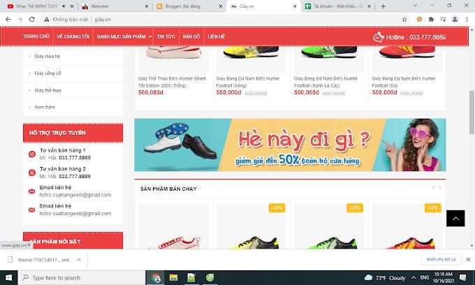 Website bán giày