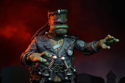 Universal Monsters x Teenage Mutant Ninja Turtles Frankenstein Raphael Ultimate Action Figure by NECA