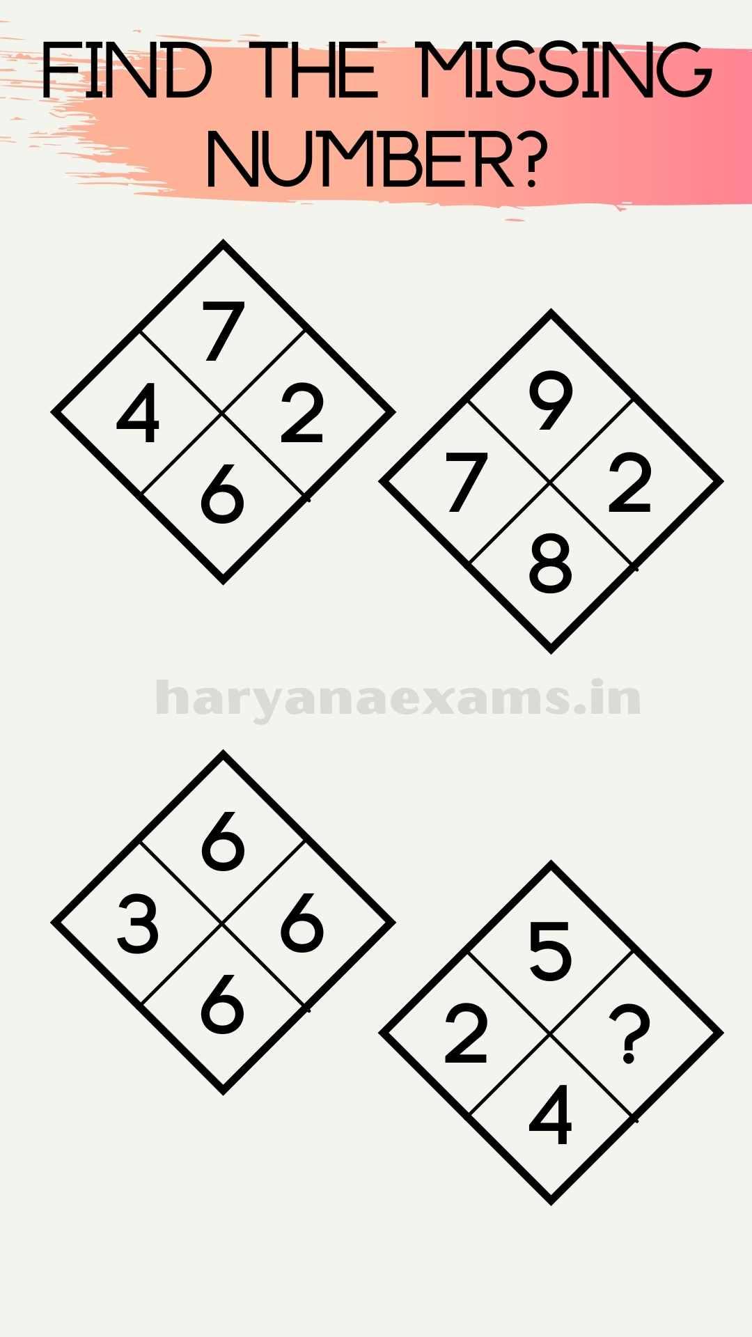 Find the Missing Number 7426, 9782, 6366, 524?