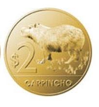 Monedas uruguayas para imprimir 2 pesos