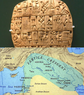 southern Mesopotamia, the Sumerians wrote tablet about teeth