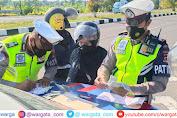 Satlantas Polres Lobar Melakukan Penindakan  Terhadap  Pelanggar Lalu Lintas di Jalan By Pass Menuju Bandara
