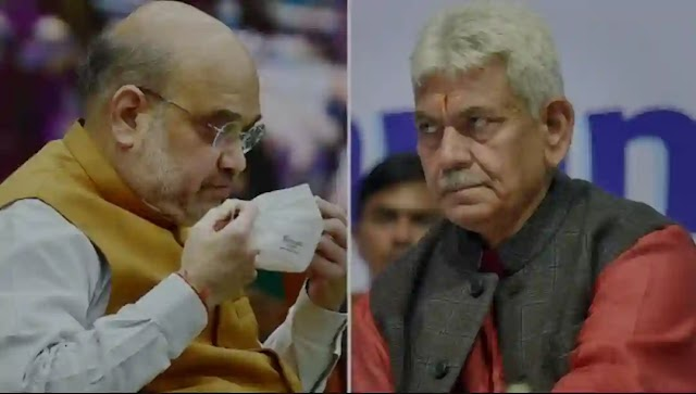 J&K LG reaches Delhi to meet Amit Shah for High level Review of the J&K situation