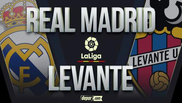 Real Madrid vs. Levante por LaLiga 2021: partido gratis y guía de TV por la jornada 2