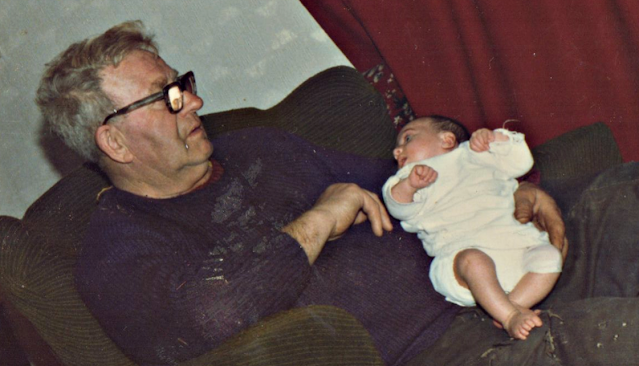My Granda and me as a baby