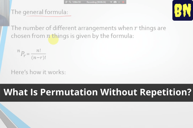 What Is Permutation Without Repetition?