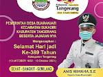 Ucapan HUT Kabupaten Tangerang Ke-389 dari Pemerintah Desa Buaran Jati Kecamatan Sukadiri