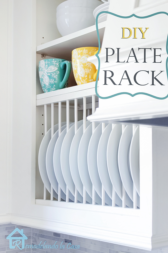 how to install a plate rack inside a cabinet