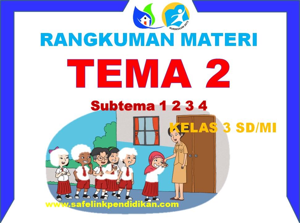 Rangkuman Materi Pembelajaran Tema 2 Kelas 3 SD/MI