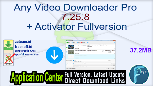 Any Video Downloader Pro 7.25.8 + Activator Fullversion