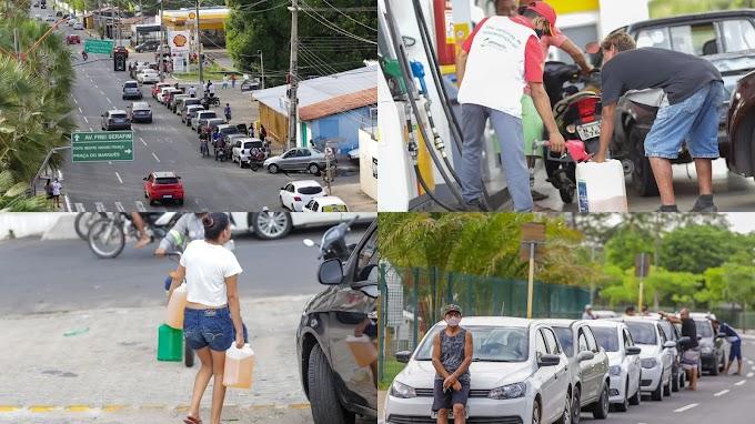 Postos registram grandes filas em Teresina com gasolina comum a R$ 3,50
