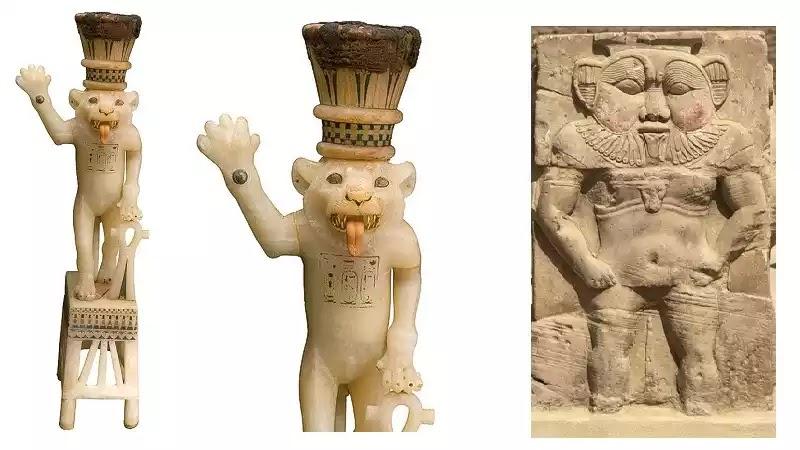 King Tut Vase in god Bes form