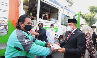 Edy Rahmayadi Buka Aksi Perdana Truk Makanan ACT, Harapkan Bermanfaat Membantu Masyarakat Terdampak Pandemi