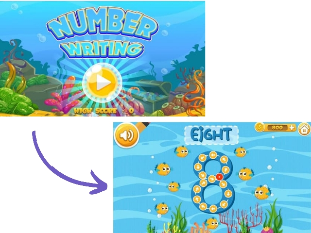 games number writing