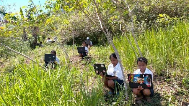 Naik Bukit-Panjat Pohon Demi Ujian Online