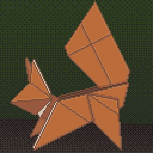 Pixel art created for Octobit. Day 2: Origami