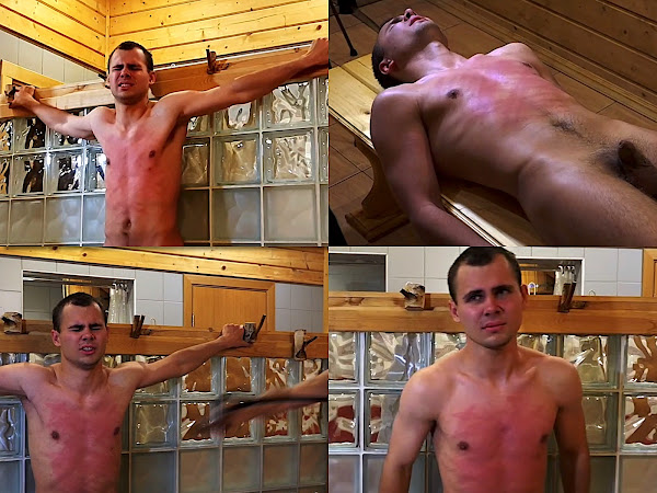 #RusStraightGuys - Male torso whipping for Mark 19 y.o.