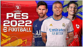 Download PES 2022 PPSSPP 1.5GB New Update HD Face And Hair Peter Drury Comentator & Latest Transfer