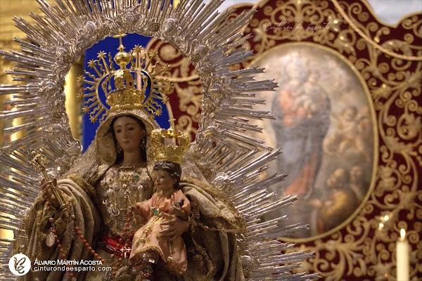 Horario e Itinerario Salida Procesional Procesión Nuestra Señora del Pilar de San Leandro. Sevilla 12 de Octubre del 2021