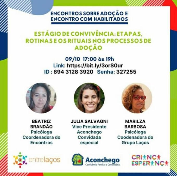 Grupo Aconchego promove encontro sobre adoção e para pais habilitados