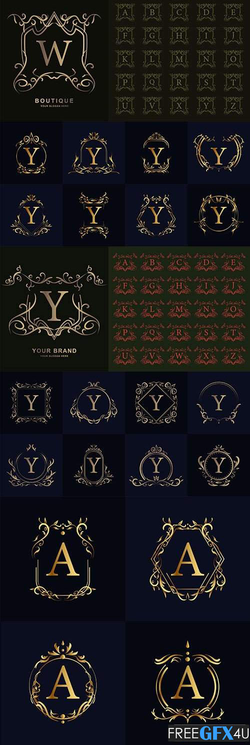 Letter Logo with Luxurious Ornament