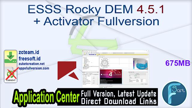 ESSS Rocky DEM 4.5.1 + Activator Fullversion