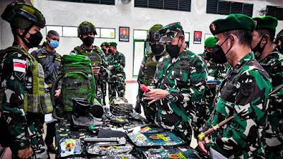 Satgas Kosektor Barat Pamtas RI-PNG Dibekali Peralatan Militer Terbaik