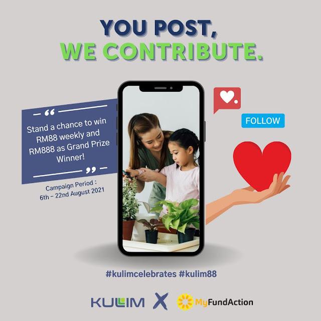Jom Bantu Komuniti Memerlukan dengan Support Kempen #kulim88, kulim88, kulim berhad, kulim Malaysia berhad, kulim berhad csr campaign, buat amal mudah dengan sedekah rm1 melalui kempen kulim88, kempen #kulim88 rm1 = satu post sempena ulangtahun ke 88 kulim Malaysia berhad, kulim x myfundaction muatnaik post di social media, kulim88 corporate social responsibility campaign, kulim berhad tawar hadiah wang tunai sempena ulangtahun ke 88, kempen derma rm1 kulim berhad, hasgtag #kulim88 di media sosial, kempen kulim88 rm1 satu post sempena ulang tahun ke 88, kulim Malaysia berhad share price, kulim Malaysia berhad  Annual report, kulim Malaysia berhad website, kulim Malaysia berhad social media account, kulim Malaysia berhad contact number, kulim Malaysia berhad Wikipedia, logo kulim Malaysia berhad