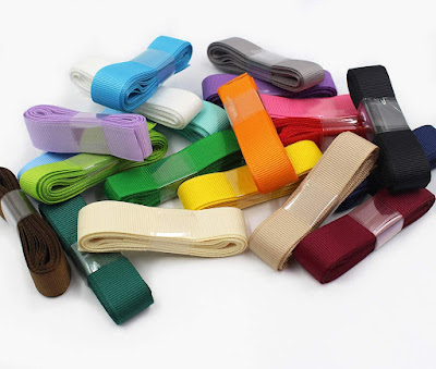 Solid Color Stripe Grosgrain Ribbons for Accessories