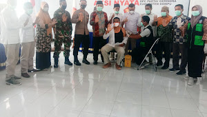DPC Partai Gerindra Gelar Kegiatan Vaksinasi, Target 1000 Orang Untuk Dompu
