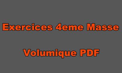 Exercices Physiques Chimie 4eme Masse Volumique PDF