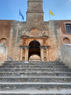 Entrance of the Agia Triada Monastery, Crete.