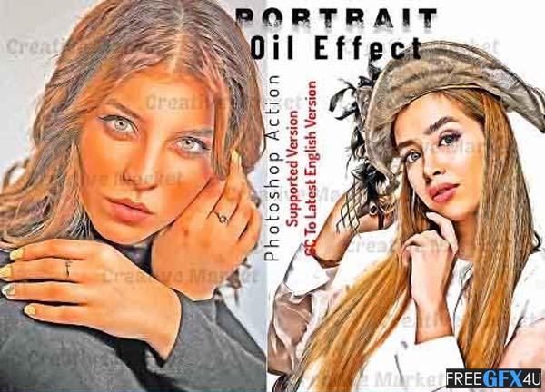 Portrait Oil Effect Photoshop Action