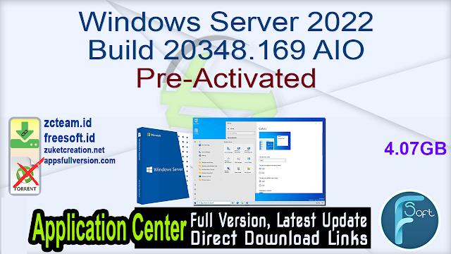 Windows Server 2022 Build 20348.169 AIO x64 En-Ru August 2021 Pre-Activated