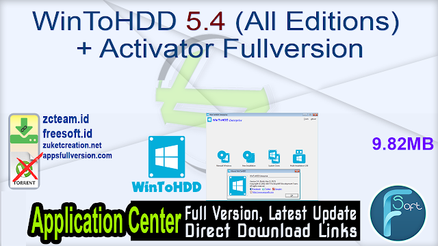 WinToHDD 5.4 (All Editions) + Activator Fullversion