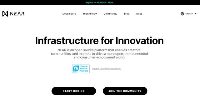 Screenshot Website Near Protocol (NEAR)