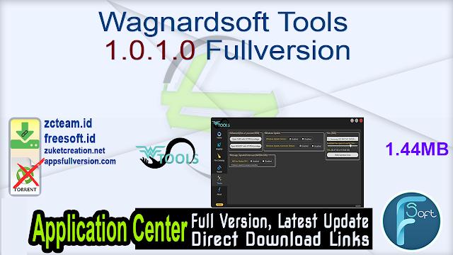 Wagnardsoft Tools 1.0.1.0 Fullversion