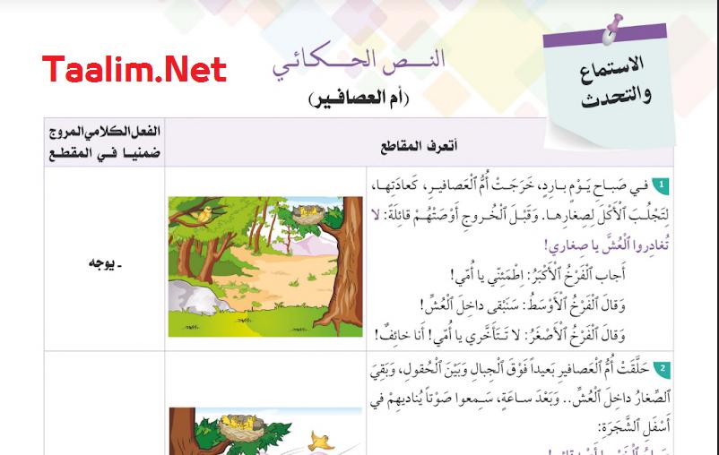 تحميل جميع نصوص الحكايات المستوى الثاني وفق مرجع  في رحاب اللغة العربية 2022/2021