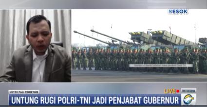 Dwifungsi TNI-Polri Kembali Dicanangkan, Pengamat: Pemerintah Tidak Boleh Melanggar UU