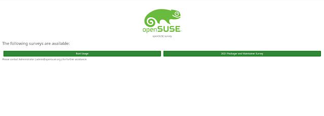 openSUSE - Nueva encuesta tiene como objetivo obtener información sobre empaquetadores y mantenedores