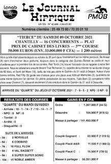 programme quinté Pronostic samedi 09/10/2021