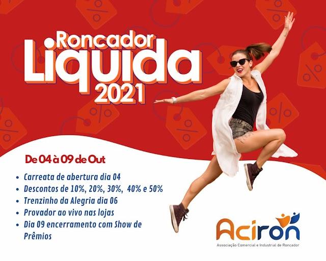 Vem aí o Roncador Liquida 2021 - Confira as empresas participantes: